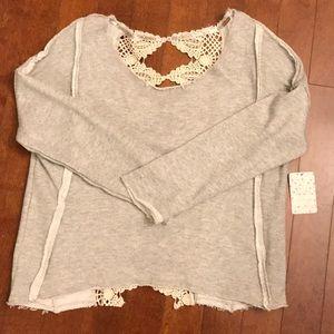 Free People Sweater- Grey Heath